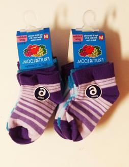 Fruit of the Loom Infant Toddler Girls' Ankle Socks *2 PACK*