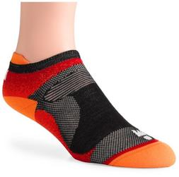 Wigwam Men's Ironman Flash Pro Low Cut Running Socks, Flame