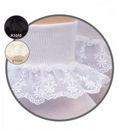 JEFFERIES Delicate Chantilly Lace Ankle Socks 1 to 10 Years