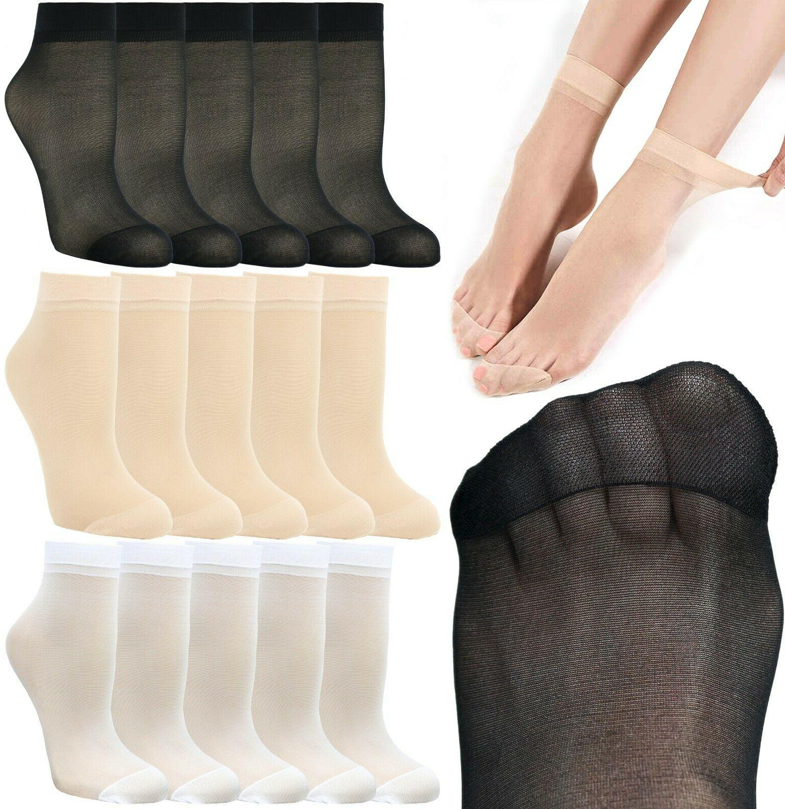 10 pairs women s soft ankle high