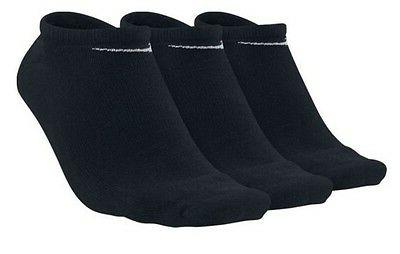 3 PACK NIKE Logo Ankle No Show Invisible Sports Liner Socks,