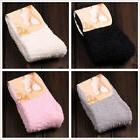 4 Pairs Womens Fuzzy Cozy Warm Short Ankle Socks Winter Soft