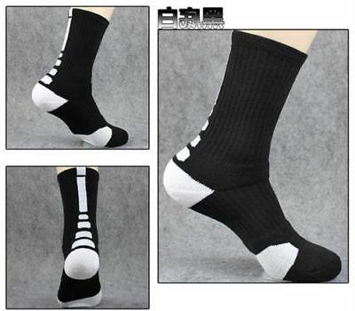 5 Men's Socks Crew Basketball Ankle Color