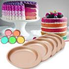 5Pcs Non Stick Rainbow Cake Pan Birthday Baking Decorating R