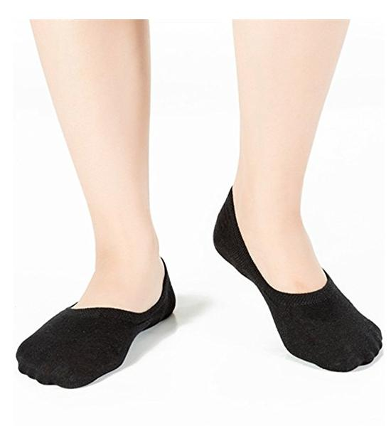 6 Pack Women Boat Liner Invisible Show Cotton for Flat Loafer