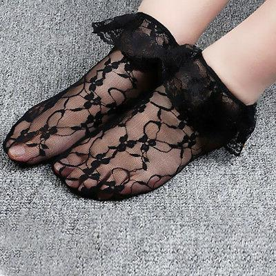 Lady Ankle Socks Retro Frilly Women US