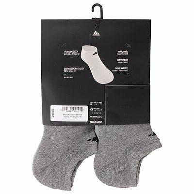 adidas Men's No Show Socks Grey/Black,