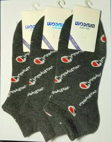 GRAY CHAMPION ANKLE SOCKS! For Casual/Athletic Wear Size M/L