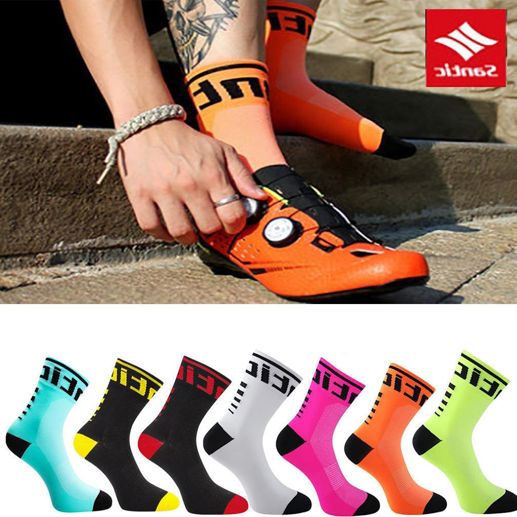 Santic Cycling Socks Running Yoga Breathable Outdoor Sportin