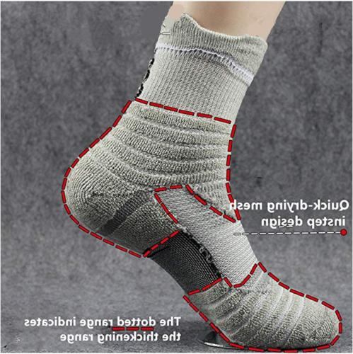 5Pairs Athletic Crew Sport Middle Socks US