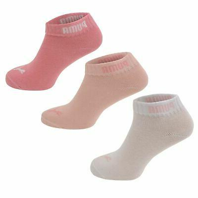 Puma Kids Children Junior Girls Quarter Socks 3 Pack Elastic