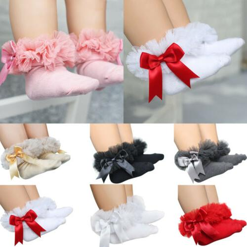 kids girls toddler cotton bow sock baby