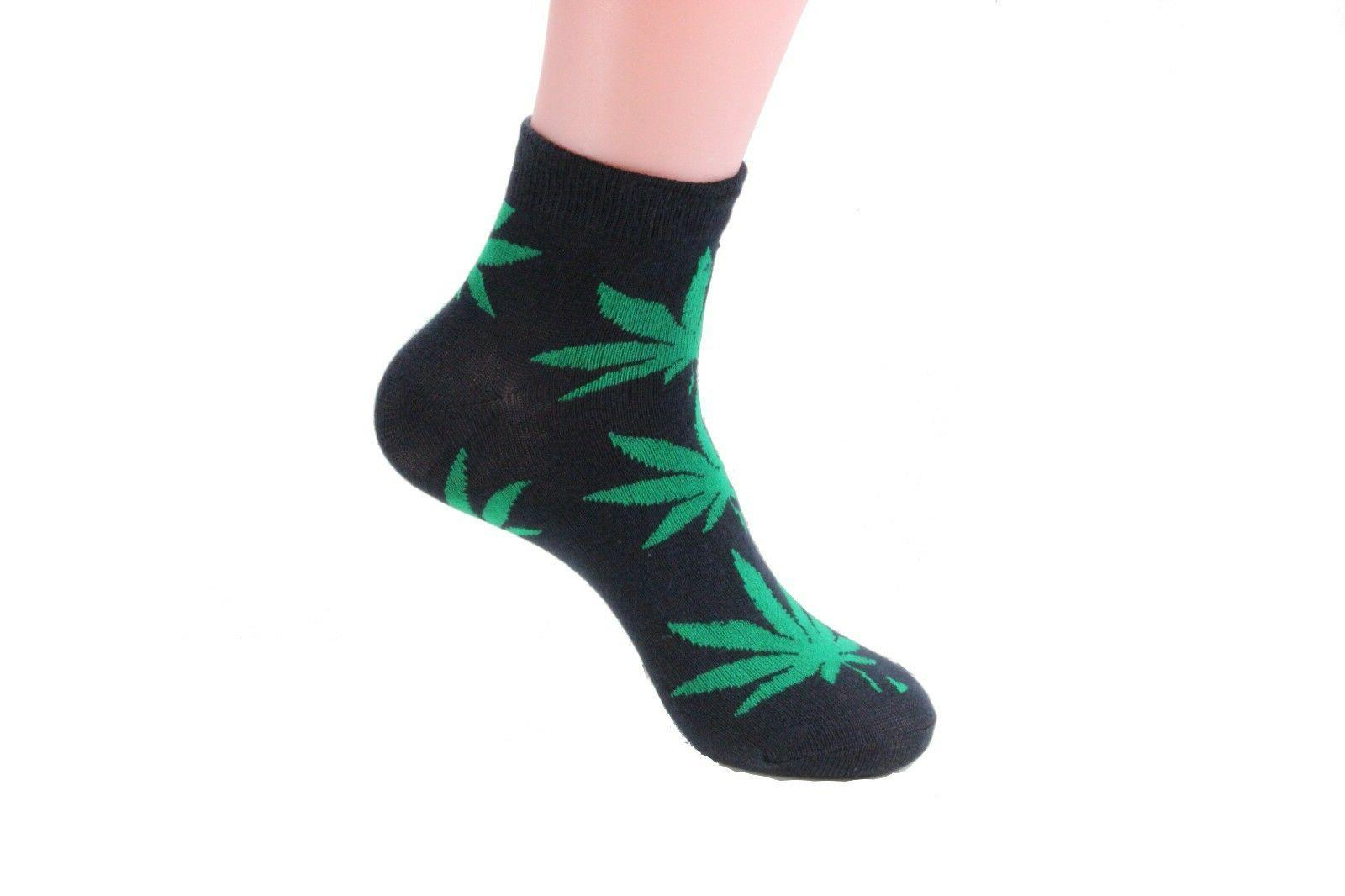 Lot 6-12 Womens Leaf Weed Marijuana Cotton Ankle Cut