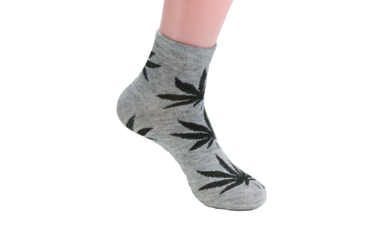 Womens Marijuana Cotton Ankle Casual Cut Socks