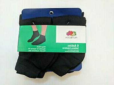 men s ankle quarter socks 6 pack