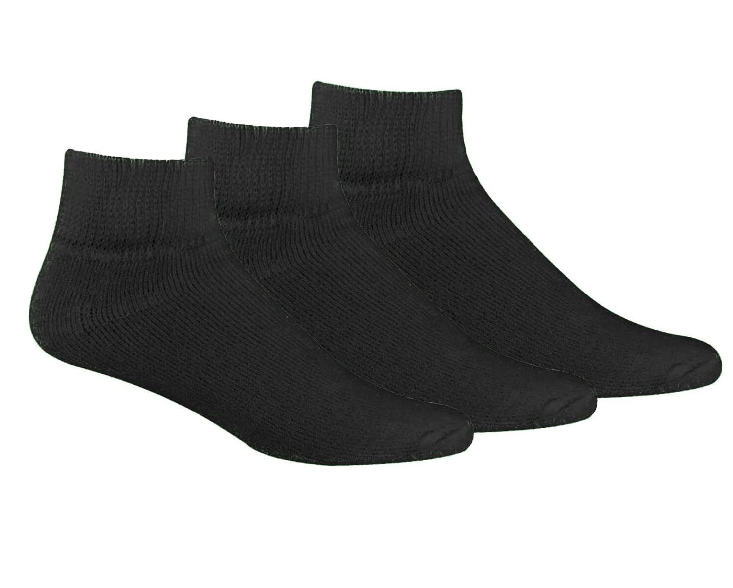 Men's Big and Tall Diabetic Non-Binding Comfort Top Ankle Qu