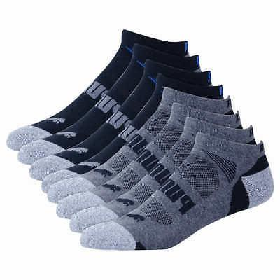 Puma Men's No Show Low Cut Ankle Socks, 8-pair Select Black