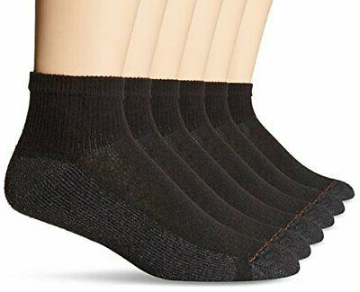 Mens - Hanes 6 Pack Men's Ankle Socks Black Size 10-13 Comfo