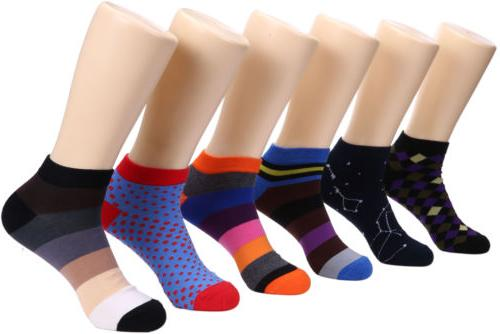mens ankle socks funky colorful low cut