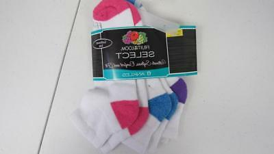 Fruit of the Loom Select 3 Pairs Ankle Socks Women's Size 8-