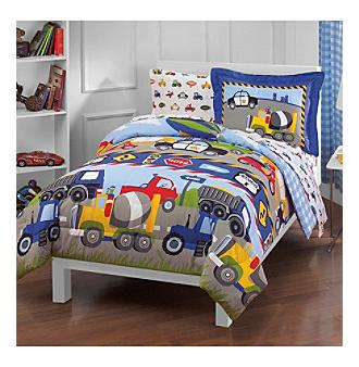 trains trucks twin comforter set