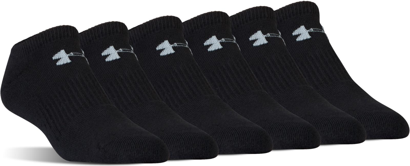 Under Armour UA Charged Cotton® 2.0 No Show Socks 6-Pack