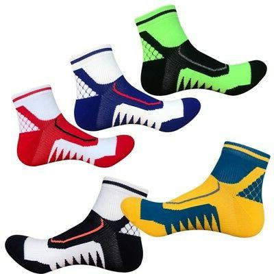 Women Men Ankle Socks Sports Running Cycling Crew Casual Bic