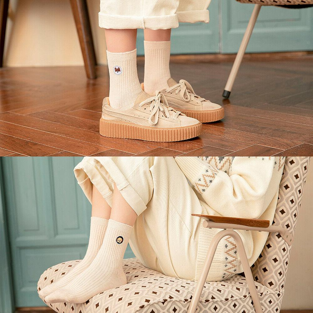 Women Ankle-High Cute Dog Sports Cotton
