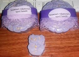 Homemade Lavender & Oatmeal Hand Soap 2 Pc. Set Color Lavend