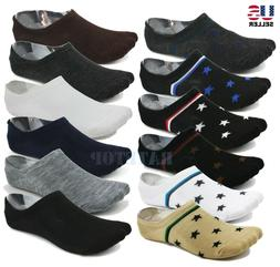 Lot 6-Pack Mens Low Cut No Show Socks Invisible Loafer Boat