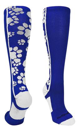 MadSportsStuff Crazy Socks with Paws Over the Calf