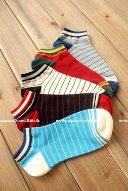 For Men Athletic Sport Cotton Crew Ankle Socks 5 Pairs Lot S