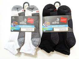 Hanes Men Ankle Socks Max Cushion ComfortBlend® Size 6-12 L