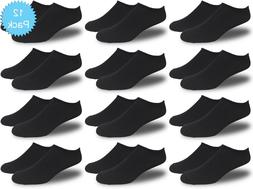Men's All Black Thin and Lightweight Low Cut Ankle Socks