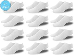 Men's All White Thin and Lightweight Low Cut Ankle Socks