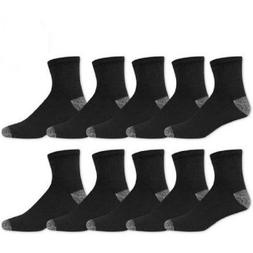 Athletic Works Men's Ankle Socks   10 pack - black or white