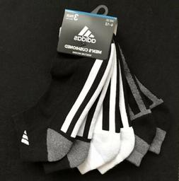 Adidas Men's Cushioned Low Cut Ankle Socks  White Black Gray