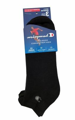 Champion Men's Double Dry High Performance Socks 3-pack Ankl