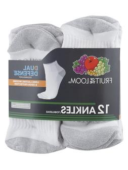 FRUIT OF THE LOOM MEN'S DUAL DEFENSE TECHNOLOGY ANKLE SOCKS