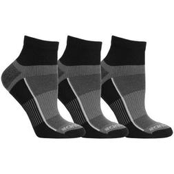Saucony Men's Inferno Quarter 3-Pack Running/Athletic Socks,