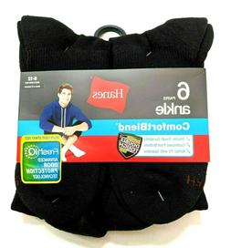 Hanes Mens Ankle Socks Comfortblend® Shoe Size 6-12 Large 6