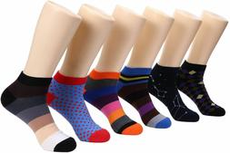 Marino Avenue Mens Ankle Socks Funky Colorful Low Cut Sock F