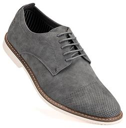 Mens Casual Shoes Suede Oxford Business Dress Shoes for Men