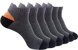 Areke Mens Comfortblend Cotton Rib Athletic Low-Cut Ankle So