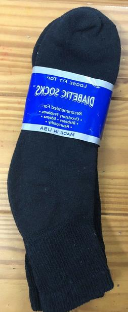 Mens Diabetic Ankle Socks Size:13-15 3pairs in a pack Black