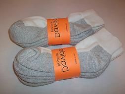 Davido Mens socks ankle/quarter 100%cotton made in Italy 6 p