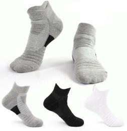 Mens Sport Cotton Socks Fitness Ankle Sock Sweat Non-slip Ru