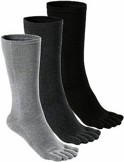 Mens Toe Socks Cotton Athletic Running Ankle Five Finger Cre