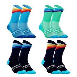 Mens Women Cycling Running Ankle Socks Riding Anti-Sweat Bre