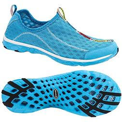 ALEADER Women's Mesh Slip On Water Shoes Blue 10 D US